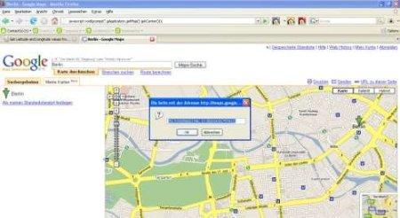 So kommt man auch zu den Koordinaten bei Google Maps